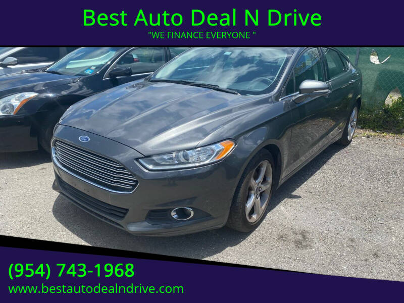 2016 Ford Fusion for sale at Best Auto Deal N Drive in Hollywood FL