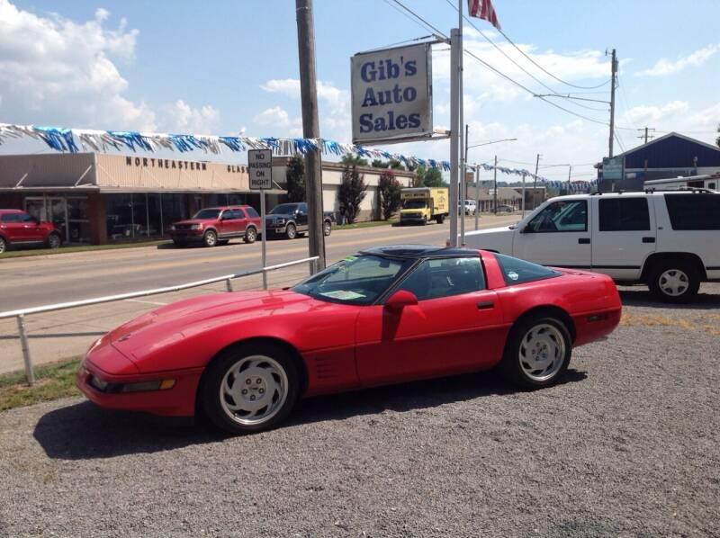 1991 Chevrolet Corvette for sale at GIB'S AUTO SALES in Tahlequah OK