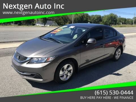 2013 Honda Civic for sale at Nextgen Auto Inc in Smithville TN