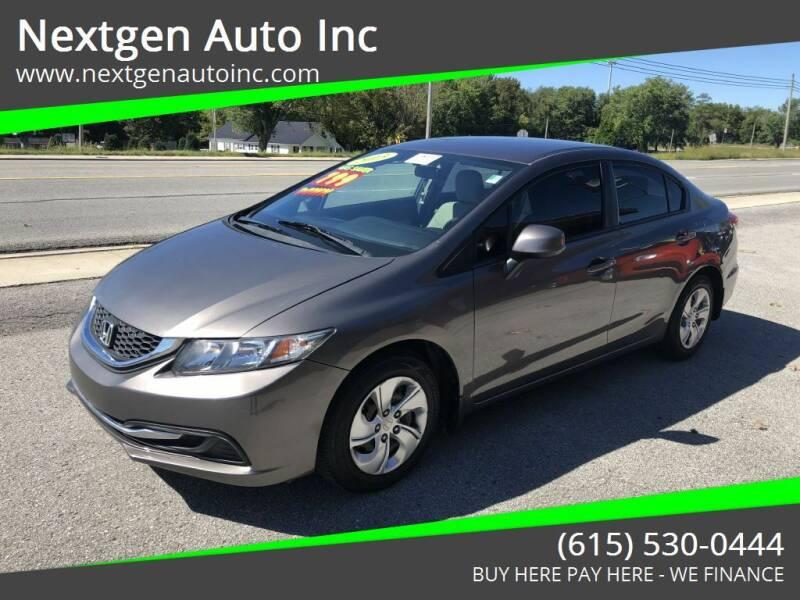 2013 Honda Civic for sale at Nextgen Auto Inc in Smithville TN