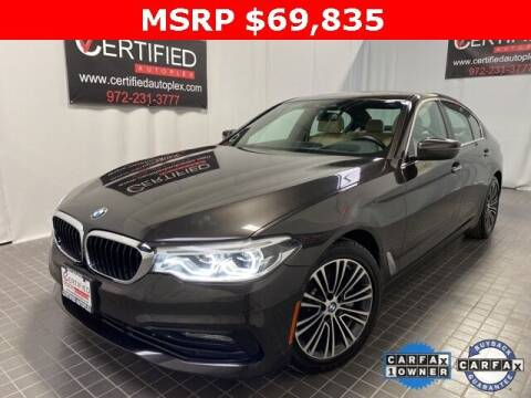 2017 BMW 5 Series for sale at CERTIFIED AUTOPLEX INC in Dallas TX