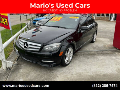 2011 Mercedes-Benz C-Class for sale at Mario's Used Cars - South Houston Location in South Houston TX