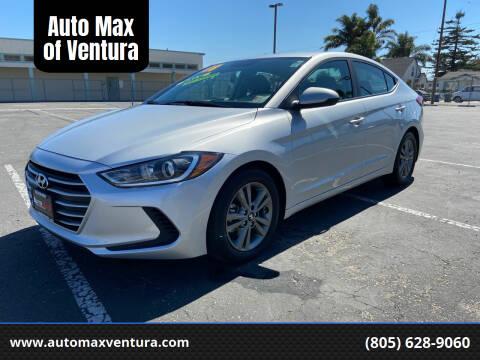 2018 Hyundai Elantra for sale at Auto Max of Ventura in Ventura CA