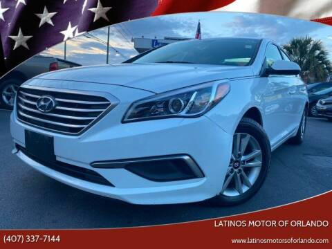 2016 Hyundai Sonata for sale at LATINOS MOTOR OF ORLANDO in Orlando FL