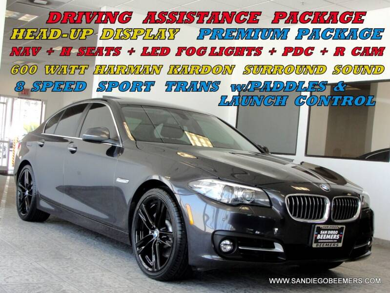 2016 BMW 5 Series for sale at SAN DIEGO BEEMERS in San Diego CA