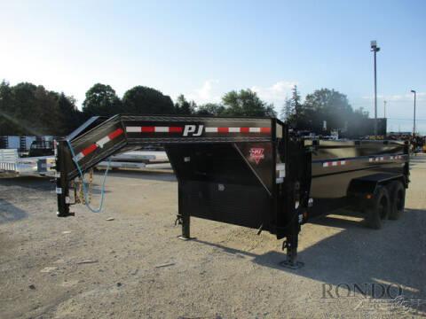 2022 PJ Trailer DE Gooseneck Dump DER16S2BTS0-