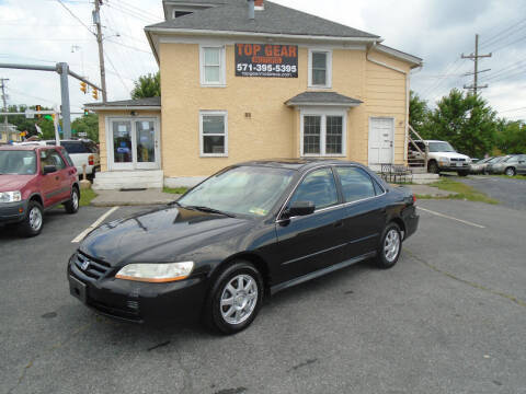 2002 Honda Accord for sale at Top Gear Motors in Winchester VA