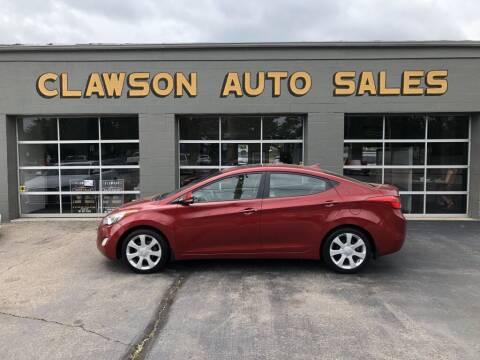 2012 Hyundai Elantra for sale at Clawson Auto Sales in Clawson MI