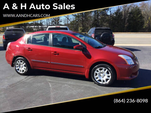 2010 Nissan Sentra for sale at A & H Auto Sales in Greenville SC