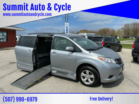 2012 Toyota Sienna for sale at Summit Auto & Cycle in Zumbrota MN