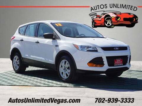 2013 Ford Escape for sale at Autos Unlimited in Las Vegas NV