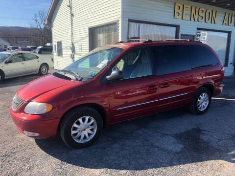 2002 Chrysler Town and Country for sale at Superior Auto Sales in Duncansville PA