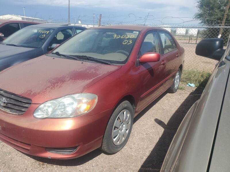 2003 Toyota Corolla for sale at PYRAMID MOTORS - Fountain Lot in Fountain CO