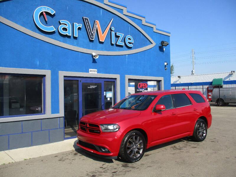 2016 Dodge Durango for sale at Carwize in Detroit MI