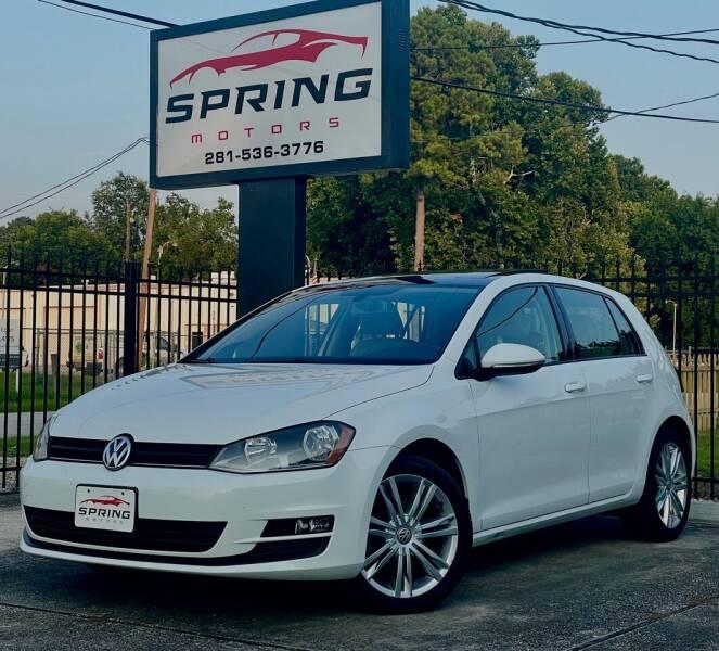 2015 Volkswagen Golf for sale at Spring Motors in Spring TX