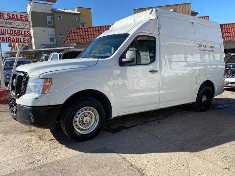 2017 Nissan NV Cargo for sale at STS Automotive in Denver CO