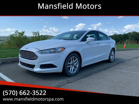 2014 Ford Fusion for sale at Mansfield Motors in Mansfield PA