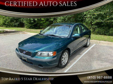 2001 Volvo S60 for sale at CERTIFIED AUTO SALES in Severn MD