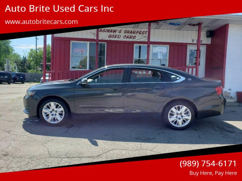 2014 Chevrolet Impala for sale at Auto Brite Used Cars Inc in Saginaw MI