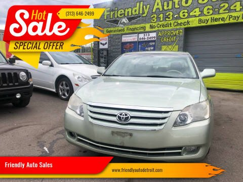 2007 Toyota Avalon for sale at Friendly Auto Sales in Detroit MI