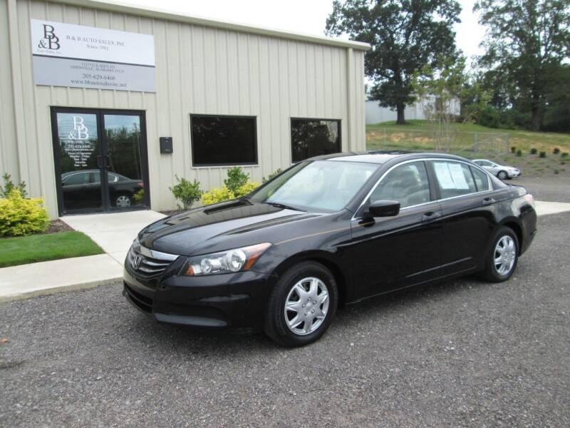 2012 Honda Accord for sale at B & B AUTO SALES INC in Odenville AL