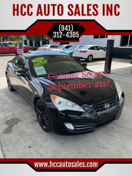 2011 Hyundai Genesis Coupe for sale at HCC AUTO SALES INC in Sarasota FL