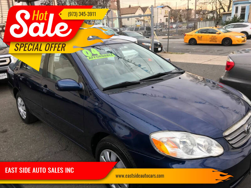 2004 Toyota Corolla for sale at EAST SIDE AUTO SALES INC in Paterson NJ