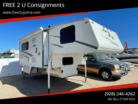 2004 Arctic Fox 1150 for sale at FREE 2 U Consignments in Yuma AZ
