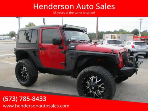 2007 Jeep Wrangler for sale at Henderson Auto Sales in Poplar Bluff MO