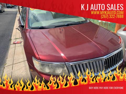 2006 Lincoln Zephyr for sale at K J AUTO SALES in Philadelphia PA