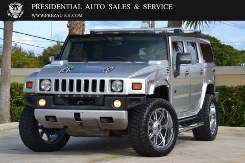 2009 HUMMER H2 for sale at Presidential Auto  Sales & Service in Delray Beach FL