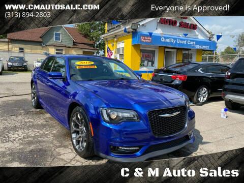 2018 Chrysler 300 for sale at C & M Auto Sales in Detroit MI
