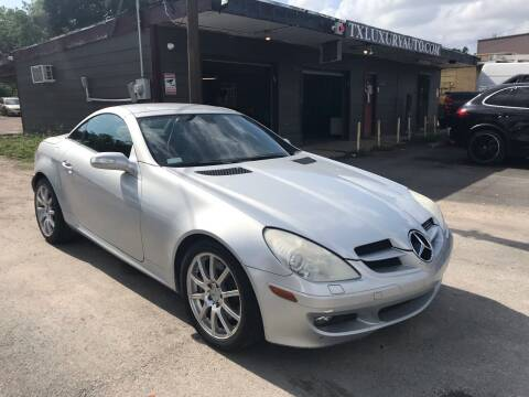 2005 Mercedes-Benz SLK for sale at Texas Luxury Auto in Houston TX