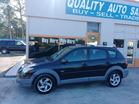 2003 Pontiac Vibe for sale at QUALITY AUTO SALES OF FLORIDA in New Port Richey FL