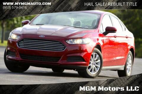 2016 Ford Fusion for sale at MGM Motors LLC - Hail Sale in De Soto KS