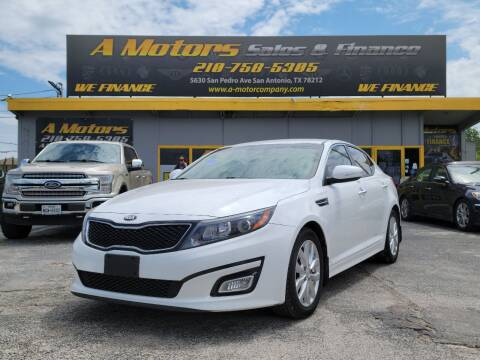 2015 Kia Optima for sale at A MOTORS SALES AND FINANCE in San Antonio TX