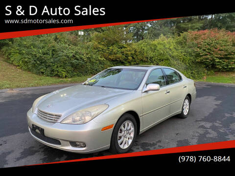 2003 Lexus ES 300 for sale at S & D Auto Sales in Maynard MA