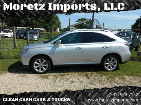 2012 Lexus RX 350 for sale at Moretz Imports, LLC in Spring TX