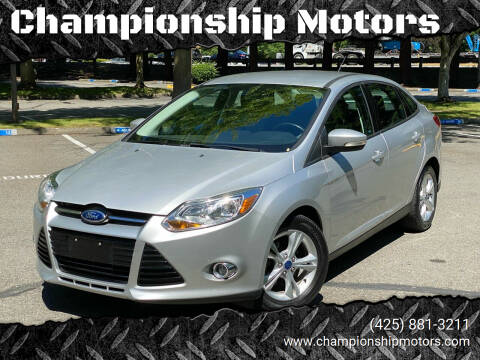 2012 Ford Focus for sale at Championship Motors in Redmond WA