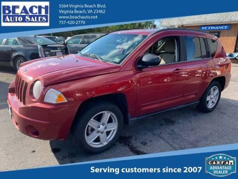 2010 Jeep Compass for sale at Beach Auto Sales in Virginia Beach VA