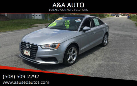 2015 Audi A3 for sale at A&A AUTO in Fairhaven MA