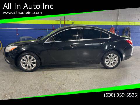 2012 Buick Regal for sale at All In Auto Inc in Addison IL