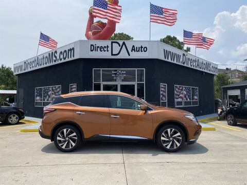 2015 Nissan Murano for sale at Direct Auto in D'Iberville MS