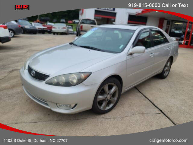 2005 Toyota Camry for sale at CRAIGE MOTOR CO in Durham NC