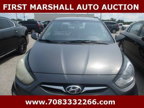 2013 Hyundai Accent for sale at First Marshall Auto Auction in Harvey IL