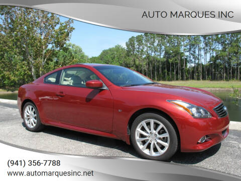 2015 Infiniti Q60 Coupe for sale at Auto Marques Inc in Sarasota FL