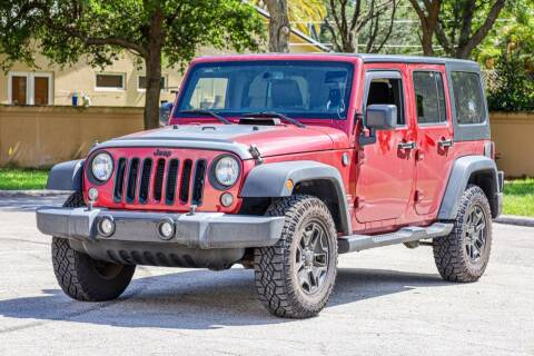 2013 Jeep Wrangler Unlimited for sale at Easy Deal Auto Brokers in Hollywood FL