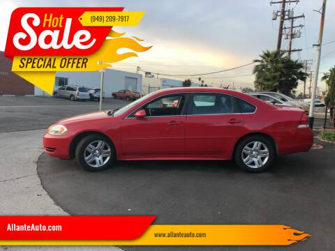 2013 Chevrolet Impala for sale at AllanteAuto.com in Santa Ana CA