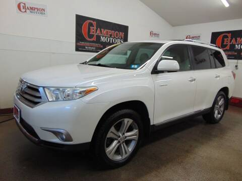 2013 Toyota Highlander for sale at Champion Motors in Amherst NH
