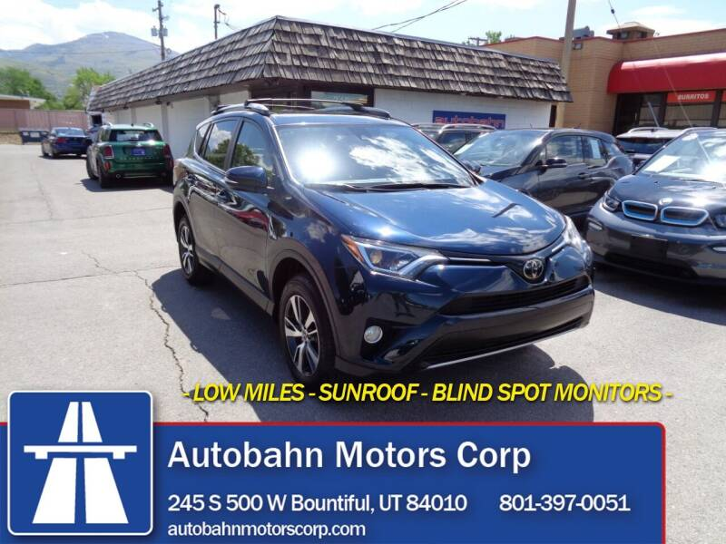 2018 Toyota RAV4 for sale at Autobahn Motors Corp in Bountiful UT